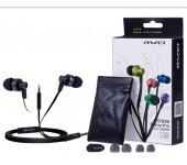 Стильные качественные наушники Awei ES-900i (черный)