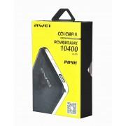 Портативный аккумулятор Awei P84K Power Bank 10400 mAh (черный)