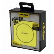 Портативный аккумулятор Awei P88K Power Bank 6000 mAh (серебристый)