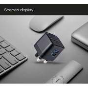 Функциональное зарядное устройство Awei C-950 Travel Charger UK Plug (черный)
