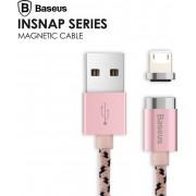 Кабель Baseus с магнитным наконечником на iphone CALIGHTNG-LF0R (Золото-розовый)