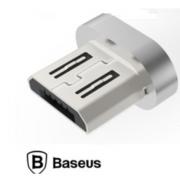Адаптер Baseus сменный магнитный наконечник на micro usb CAMICRO-BLF0S (Серебристый)