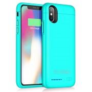 Чехол с аккумулятором Smart Battery Case для iPhone X iPhone XS (Голубой)