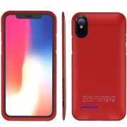 Чехол с аккумулятором для iPhone X 4000 мАч Smart Battery Case (Красный)