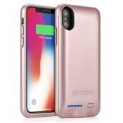 Чехол с аккумулятором Smart Battery Case для iPhone X iPhone XS (Розовый)
