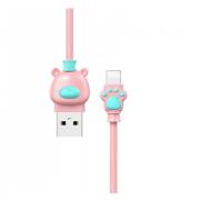 Кабель Lightning Baseus Bear USB 2.0 1 метр (Розово-синий)