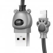 Кабель Lightning Baseus Bear USB 2.0 1 метр (Серо-черный)