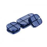 Держатель проводов Baseus Cross Peas Cable Clip ACTDJ-03 (Синий)