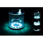 LED фонарь надувной походный на солнечной батарее (Прозрачный)