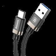 Кабель Baseus USB 3.0 to Type-C Golden Belt 1.5м CATGB-A1V (Черно-Золотой)