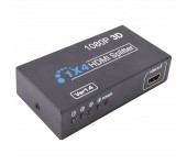 Сплиттер разветвитель Divisor Splitter Hdmi 1x4 Hub 4 Portas 1080p 3d Ver 1.4
