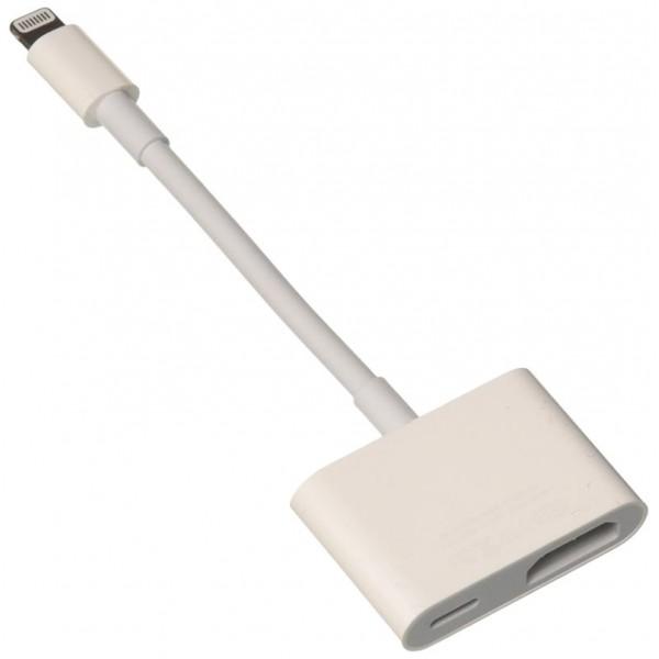 Переходник Lightning папа Audio HDMI мама Digital AV Adapter (белый)