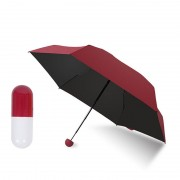 Зонт в капсуле (бордовый)