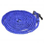 Поливочный растягивающийся садовый шланг с насадкой-распылителем Magic hose 30 метров (Синий)