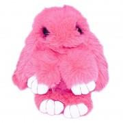 Брелок Кролик из меха с ресничками (Фуксия)