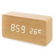 Настольные цифровые часы-будильник VST-863 (Светло-бежевые)