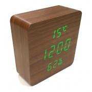 Настольные цифровые часы-будильник VST-872S (Коричневый)