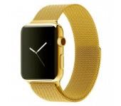 Ремешок Milanese Loop для Apple Watch 38 40 мм (Золотой)