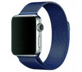 Ремешок Milanese Loop для Apple Watch 38 40 мм ремешок на магнитной застежке, гибкий, нервущийся (Синий)