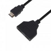 Переходник HDMI Splittle 1F/2M port 300mm cable