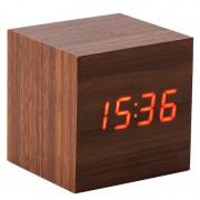 Электронные часы деревянный куб VST-869 (Коричневый)