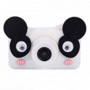 Детская цифровая мини камера фотоаппарат D3 Plus с силиконовым чехлом Панда (Черно белый)