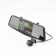 Автомобильный видеорегистратор-зеркало Eplutus с антирадаром, GPS и 2-мя камерами GR-51 (Черный)