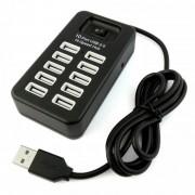 Разветвитель USB HUB 10 портов P-1603 (Черный)