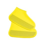 Водонепроницаемые многоразовые бахилы от дождя и грязи для защиты обуви, размер S (Желтый)