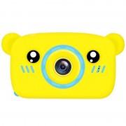Детская цифровая мини камера фотоаппарат в форме медведя (Желтый)
