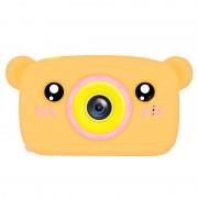 Детская цифровая мини камера фотоаппарат в форме медведя (Оранжевый)