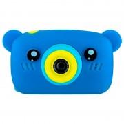 Детская цифровая мини камера фотоаппарат в форме медведя (Синий)