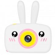 Детская цифровая мини камера фотоаппарат в форме зайчика (Белый)