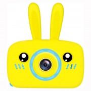 Детская цифровая мини камера фотоаппарат в форме зайчика (Желтый)