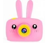 Детский цифровой фотоаппарат камера в форме зайчика (Розовый)