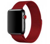 Ремешок Milanese Loop для Apple Watch 38 40 мм (Красный)