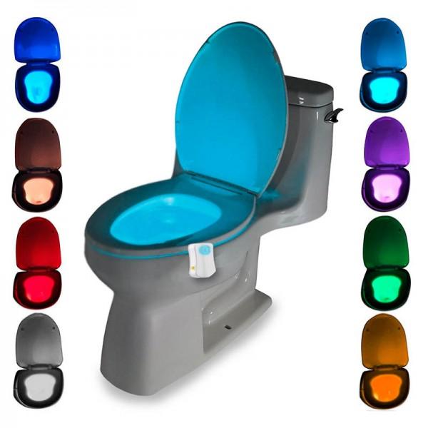 Подсветка для унитаза с датчиком движения LED Light Bowl 8 цветов (Мультиколор)