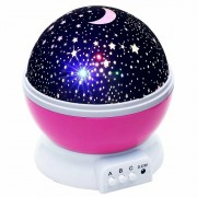 Детский ночник звездного неба Star Master Dream Rotating (Розовый)