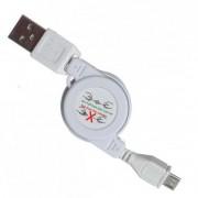 Выдвижной Micro USB кабель (Белый)