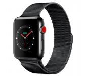 Ремешок Milanese Loop для Apple Watch 38 40 мм (Черный)