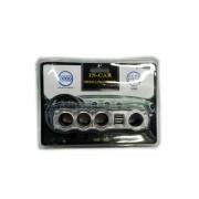 WF-0096 Разветвитель прикуривателя на 4 гнездо и 2 USB выхода арт. 144959