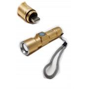 HL-912 Светодиодный фонарь, ZOOM 3 режимов (аккумуляторный) с USB разъёмом для заряда арт. 145298