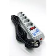 Сетевой фильтр 5м 6роз серый Power Cube SPG5+1 арт. 143674