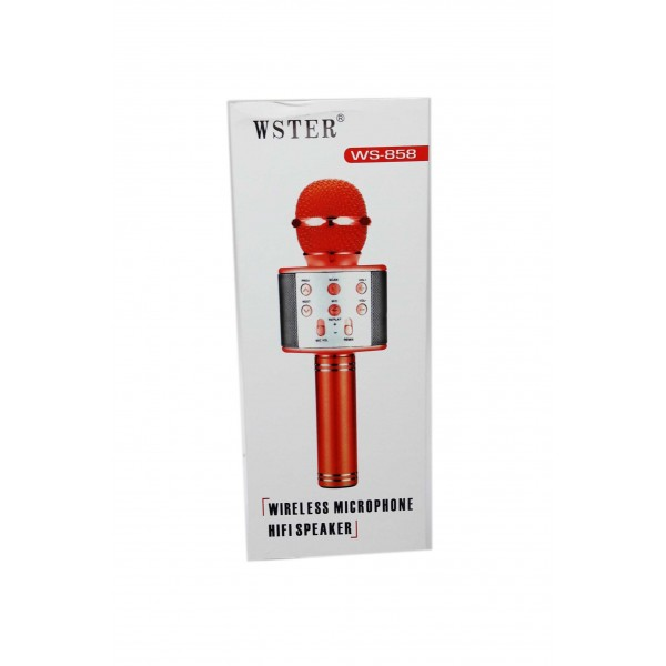 WS-858 Беспроводной караоке микрофон (микс разные цвета) арт. 143609