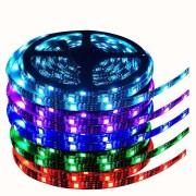 Светодиодная лента LED SMD 5050 5m с блоком питания RGB с пультом (Цветная)