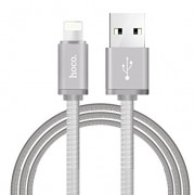Кабель Hoco U5 Full Metal Charging cable for Apple (Серебро)