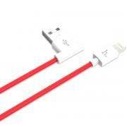 Кабель Hoco UPL11 L Shape Lightning Charging Cable (Красный)