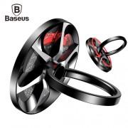 Универсальное кольцо-держатель Baseus Wheel Ring Bracket SULG-B1S (Черный с серебром)