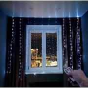 Светодиодная гирлянда Штора с пультом управления на окно 3х3 метра (Холодный свет)
