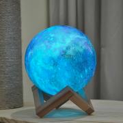 Ночник светильник настольный Луна 18 см с аккумулятором, пультом управления и touch функцией